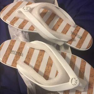 New MK beach sandals.